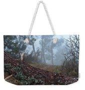 Forest And Fog In Serra Da Estrela Weekender Tote Bag