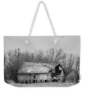 Forest Avenue Barn Bw Weekender Tote Bag