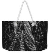 Forest Botanicals In Black And White Weekender Tote Bag