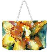 Forest Daffodil In Rain Weekender Tote Bag