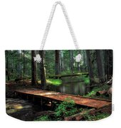 Forest Foot Bridge Weekender Tote Bag