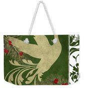 Forest Holiday Christmas Goose Weekender Tote Bag