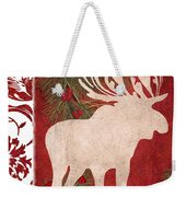 Forest Holiday Christmas Moose Weekender Tote Bag