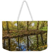 Forest Leaf Reflection Weekender Tote Bag