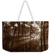 Forest Mist B And W Weekender Tote Bag