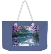 Forest River Scene. L A Weekender Tote Bag
