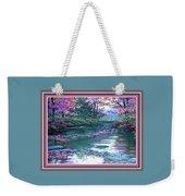 Forest River Scene. L B With Alt. Decorative Ornate Printed Frame. No. 1 Weekender Tote Bag