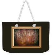 Forest Scene. L A With Decorative Ornate Printed Frame. Weekender Tote Bag