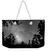 Forest Silhouettes Constellation Astronomy Gazing Weekender Tote Bag