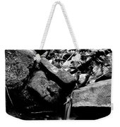 Forest Stream In Black And White Weekender Tote Bag