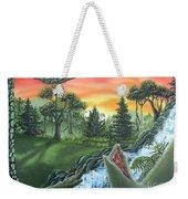 Forest Sunset Cascade Weekender Tote Bag
