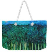 Forest Under The Full Moon - Abstract Weekender Tote Bag