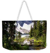 Forest View To Mountain Lake Weekender Tote Bag by Greg Hammond