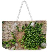 Forest With Green Trees From Above Weekender Tote Bag
