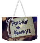 Forever And Always Paris Love Lock Weekender Tote Bag