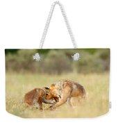 Foreverandeverandever - Red Fox Love Weekender Tote Bag