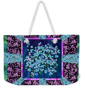 Forget Me Nots Fabric By Clothworks Weekender Tote Bag