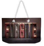 Forgive - Antique Letterpress Letters Weekender Tote Bag