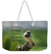 Forgiveness Weekender Tote Bag
