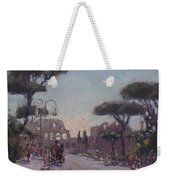 Fori Romani - Street To Colosseo Weekender Tote Bag