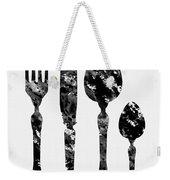 Fork Knife And Spoon Weekender Tote Bag
