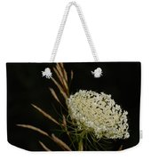 Formal Queen Anne's Lace Study Portrait Weekender Tote Bag