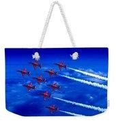 Formation Flying Britains Red Arrows Weekender Tote Bag