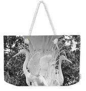 Forsyth Park Fountain - Black And White 4 2x3 Weekender Tote Bag
