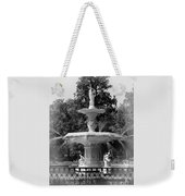 Forsyth Park Fountain Black And White With Vignette Weekender Tote Bag