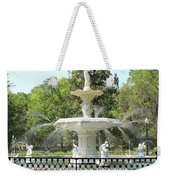 Forsyth Park Fountain Square Weekender Tote Bag