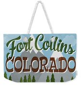 Fort Collins Colorado Snowy Mountains	 Weekender Tote Bag