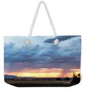 Fort Collins Colorado Sunset Lightning Storm Weekender Tote Bag