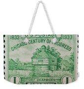Fort Dearborn Postage Stamp Weekender Tote Bag