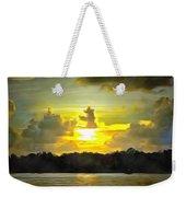 Fort Island Trail Sunset Weekender Tote Bag
