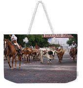 Fort Worth Cattle Drive Weekender Tote Bag