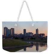 Fort Worth Skyline At Sunset Weekender Tote Bag