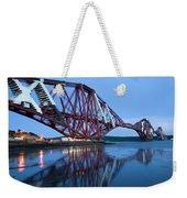 Forth Railway Bridge In Edinburg Scotland  Weekender Tote Bag