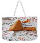 Fortune Cookie Sayings  Weekender Tote Bag