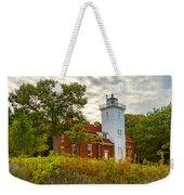 Forty Mile Point Lighthouse Lake Huron Lower Peninsilat Mi  Weekender Tote Bag