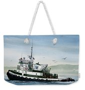 Foss Tugboat Martha Foss Weekender Tote Bag by James Williamson