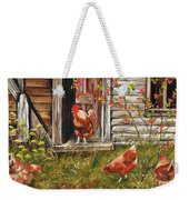 Fossicking Fowls Weekender Tote Bag