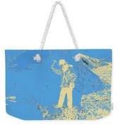Fossil Hunter Blue Yellow Weekender Tote Bag