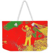 Fossil Hunter Red Yellow Green Weekender Tote Bag
