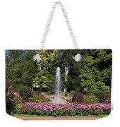 Fountain Among Flowers Weekender Tote Bag