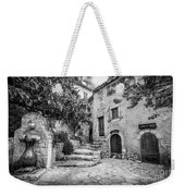 Fountain Courtyard In Eze, France 2, Blk White Weekender Tote Bag