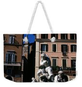 Fountain Depicting Neptune The Piazza Navona The Spire Of The Church Of Santa Maria Della Pace Rome Weekender Tote Bag