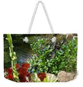 Fountain Flowers Weekender Tote Bag