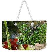 Fountain Flowers Weekender Tote Bag