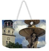 Fountain In Residenzplaz Square Weekender Tote Bag