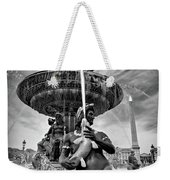 Fountain On Place De La Concorde - Paris Weekender Tote Bag